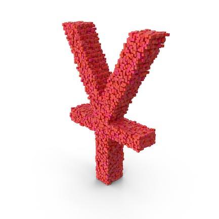 Voxel Yuan Symbol