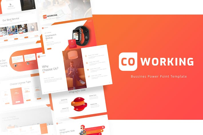 Thumbnail for Coworking - Professional Powerpoint Template