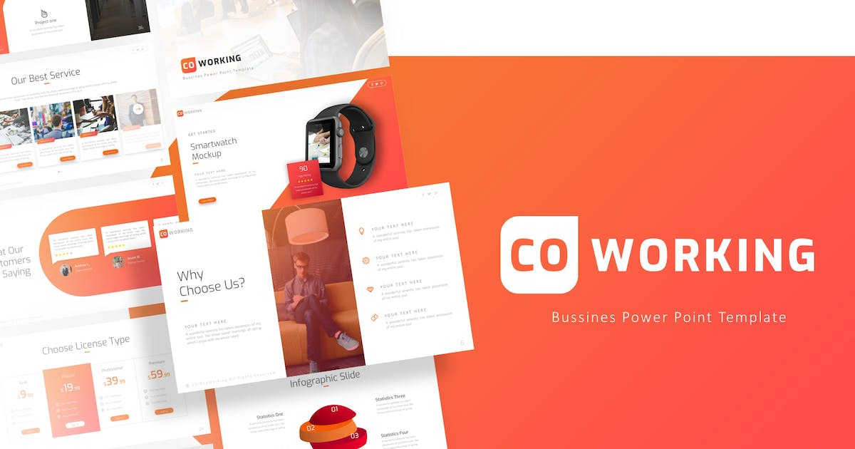 Download Coworking - Professional Powerpoint Template by RRgraph