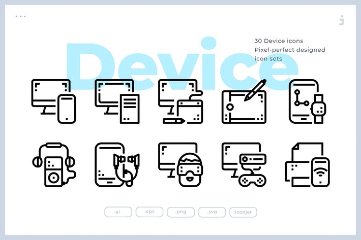 Thumbnail for 30 Device and Technology Icons