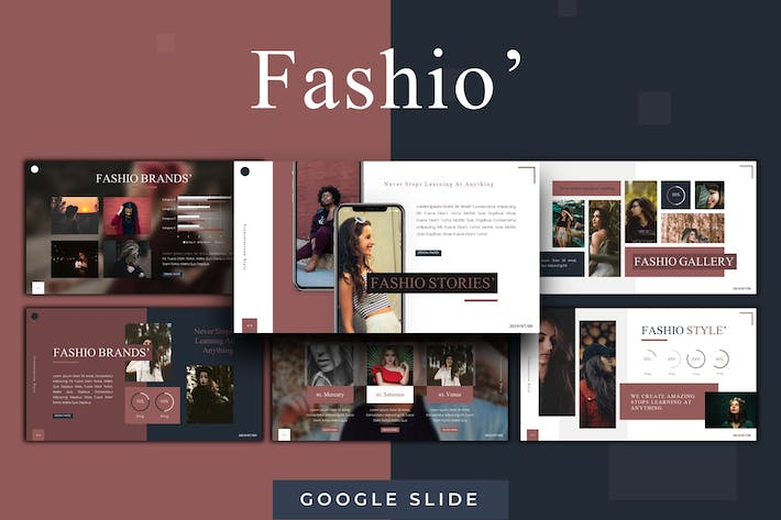 Thumbnail for Fashio - Шаблон слайдов Google