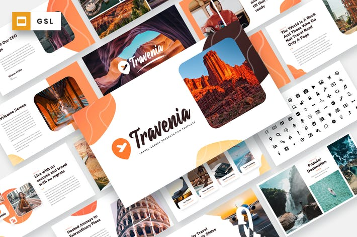 Thumbnail for Travenia - Travel Agency Google Slides Template