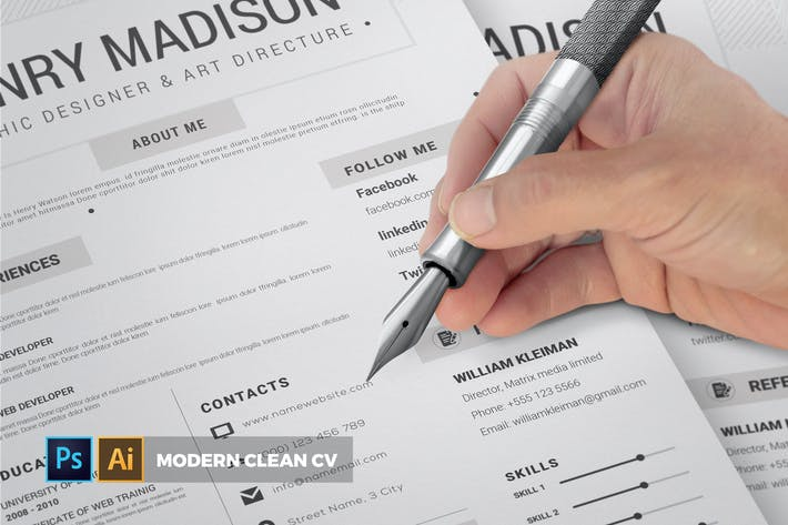 Thumbnail for Modern Clean | CV & Resume