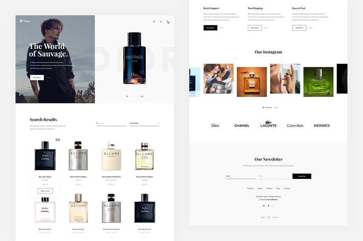 Thumbnail for Fleur — Store Landing Page