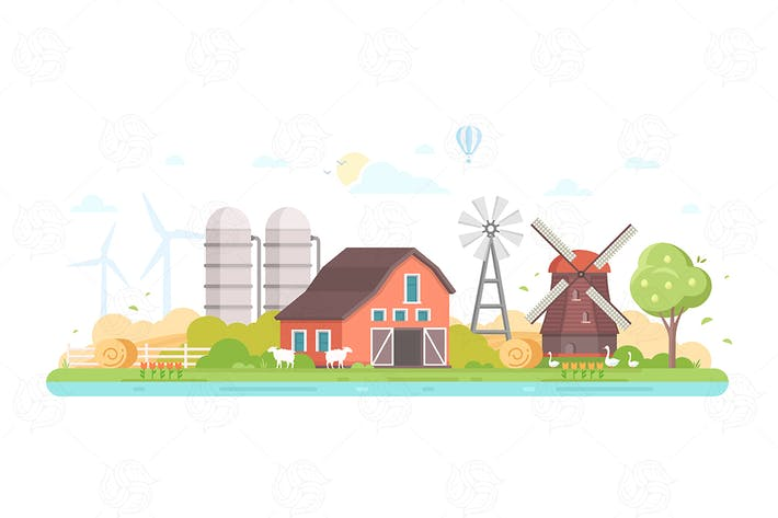 Thumbnail for Agriculture - flat design style illustration