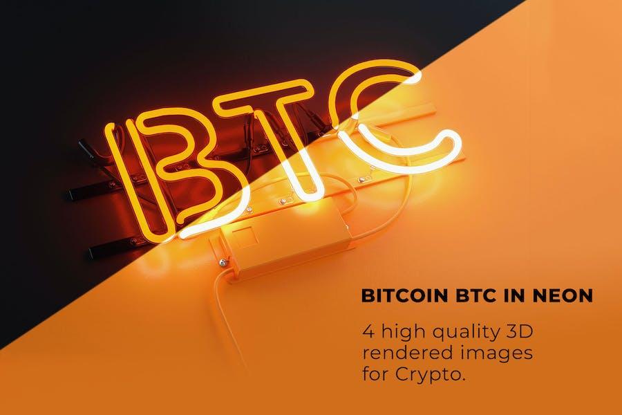 Bitcoin BTC Neon