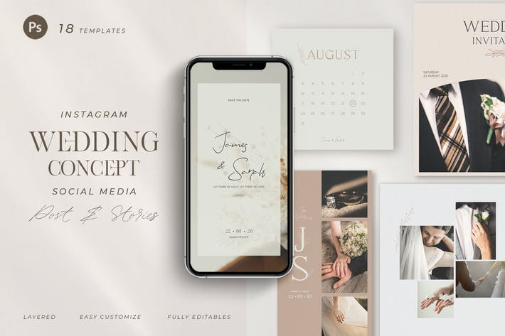 Thumbnail for Wedding Planner Instagram - Social Media Pack
