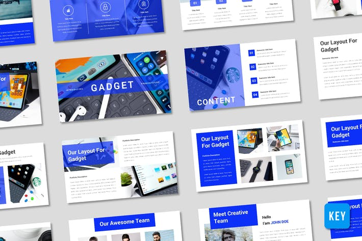 Gadget Presentation Template - (KEY)