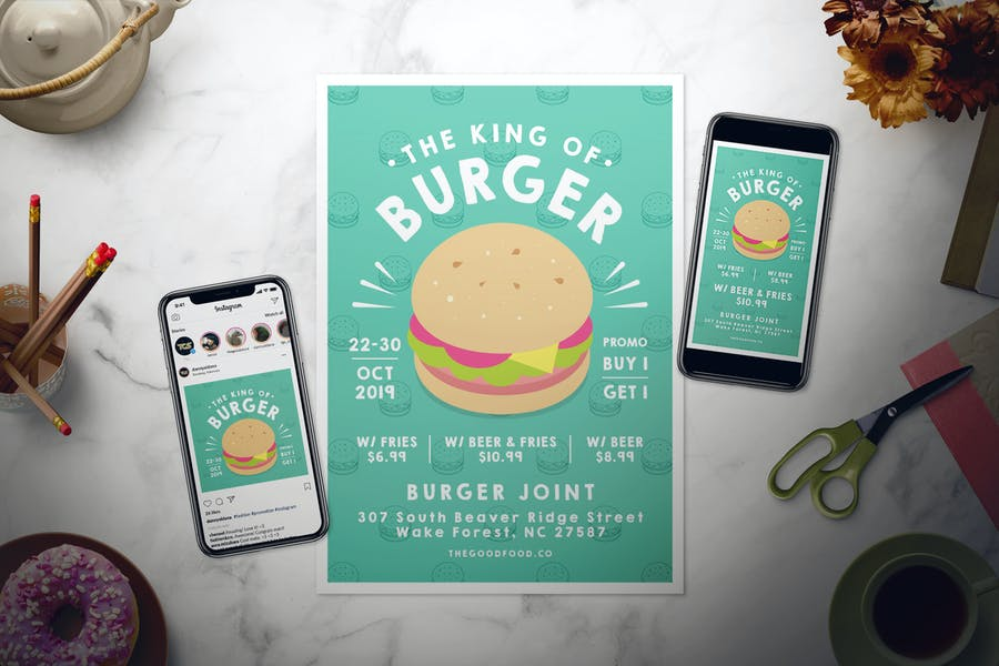 Burger Flyer Set