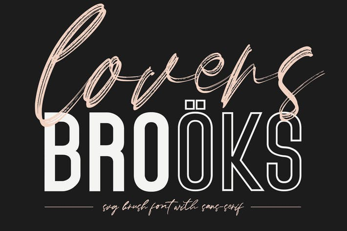 Thumbnail for Lovers Brooks SVG Brush Font Free Sans