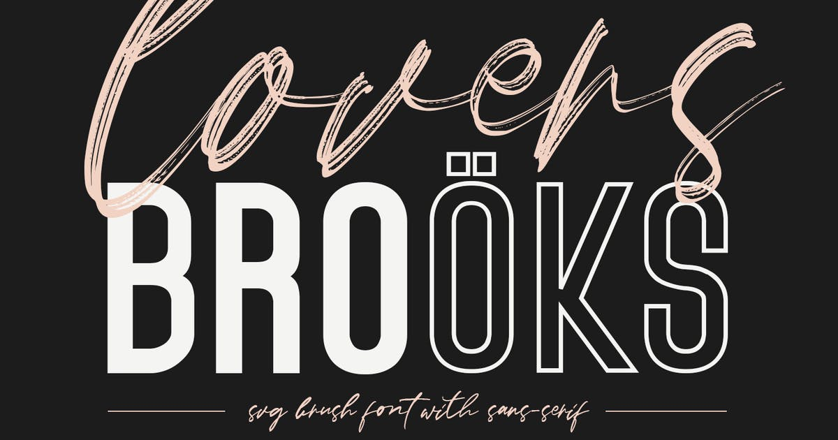 Download Lovers Brooks SVG Brush Font Free Sans by maulanacreative