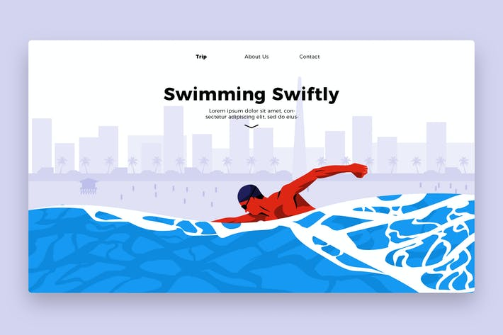 Thumbnail for Swimming Swiftly - Banner & Landing Page