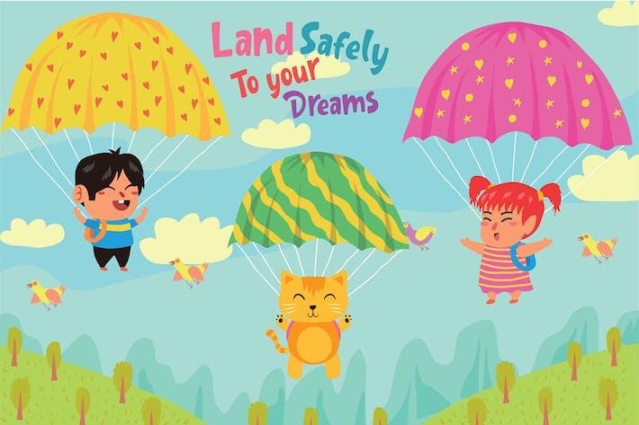 Thumbnail for Parachute - Vector Illustration