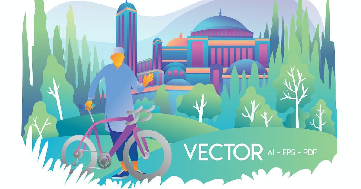Download Moslem With Bike by Olexstudio