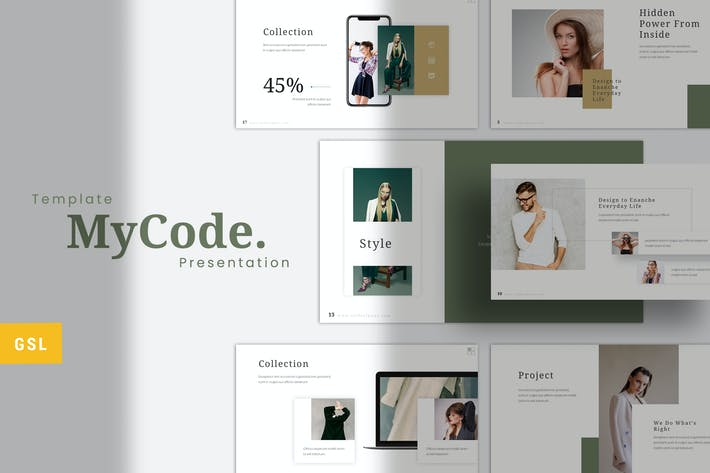 Thumbnail for MyCode -  Fashion Google Slides Template
