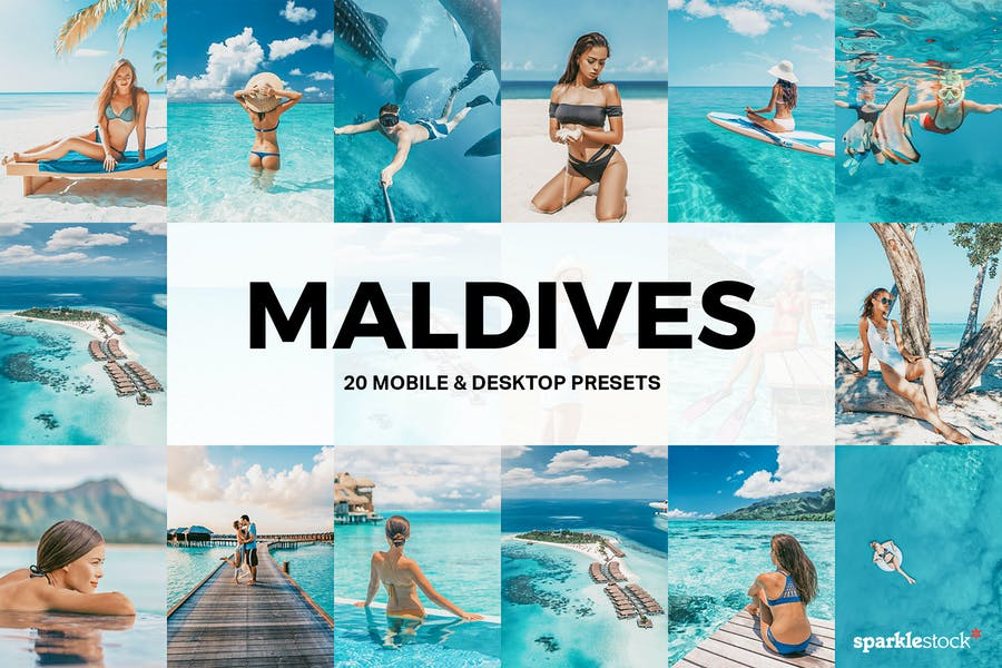 20 Maldives Lightroom Presets and LUTs