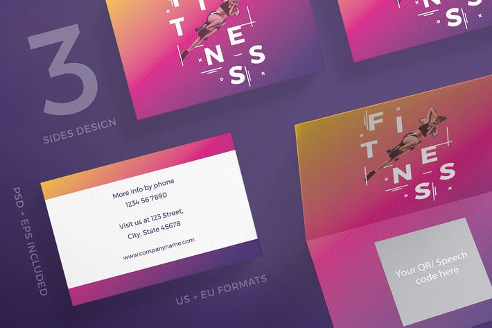 Thumbnail for Fitness Gym Business Card Template