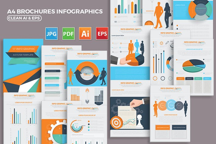 Thumbnail for 17 Pages Infographics Design
