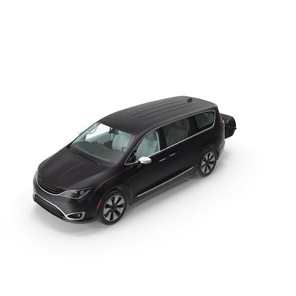 Family Minivan with Hitch Cargo Carrier