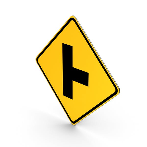 Road Sign Perpendicular Intersection