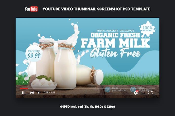 Thumbnail for Farm Milk YouTube Video Miniaturbild Screenshot