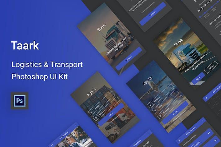 Thumbnail for Taark - Logistics & Transport Photoshop UI Kit