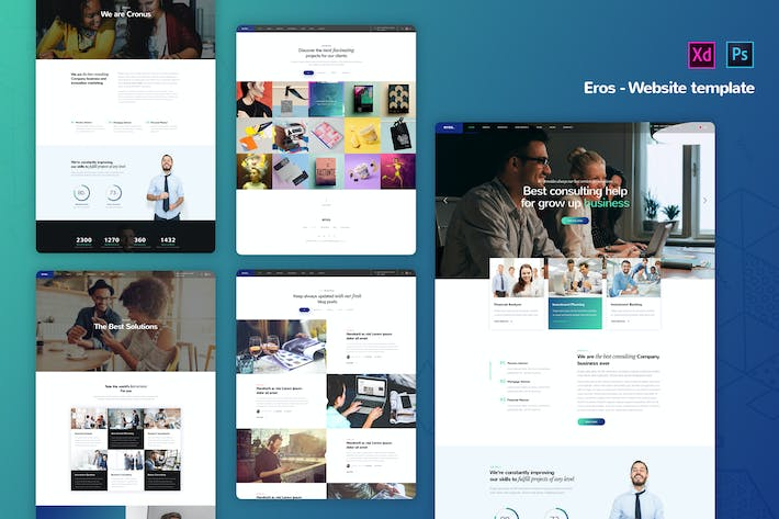 Thumbnail for Eros - Corporate Business Website Templates