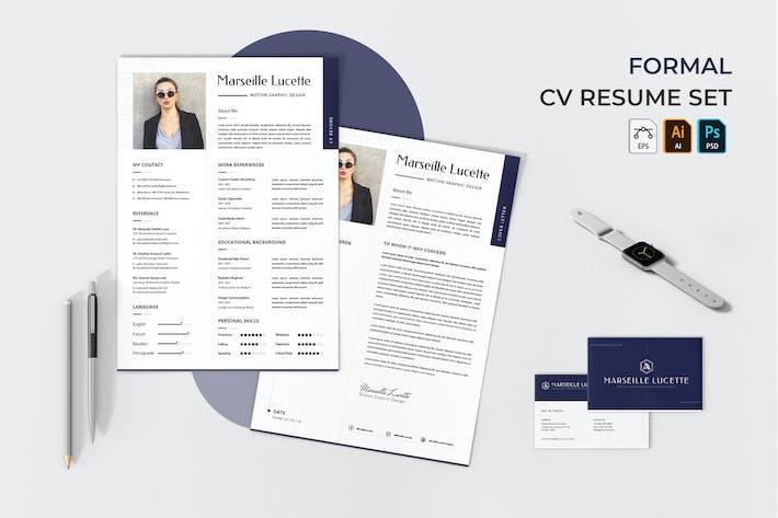 Formal CV Resume Set