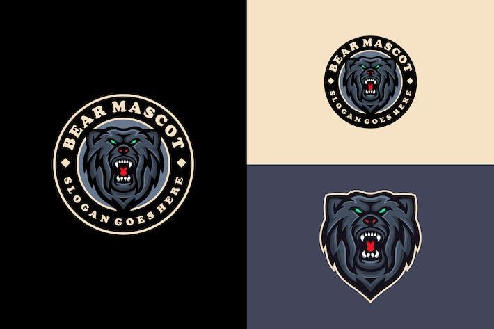 grizzly bear logo emblem modern