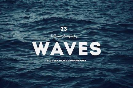 Fotografía de olas del Mar azul