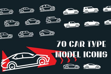 Car Type and Model Objects Icons