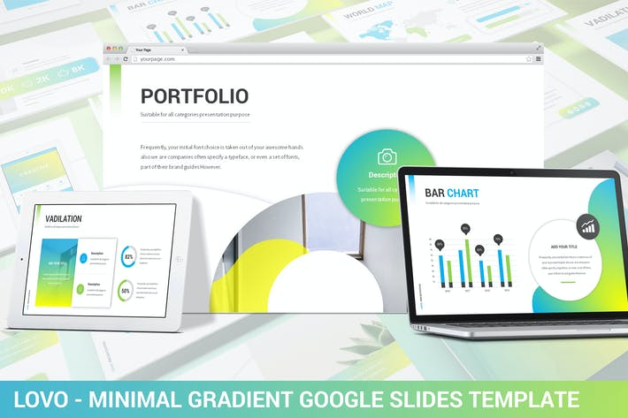 Thumbnail for Lovo - Minimal Gradient Google Slides Template