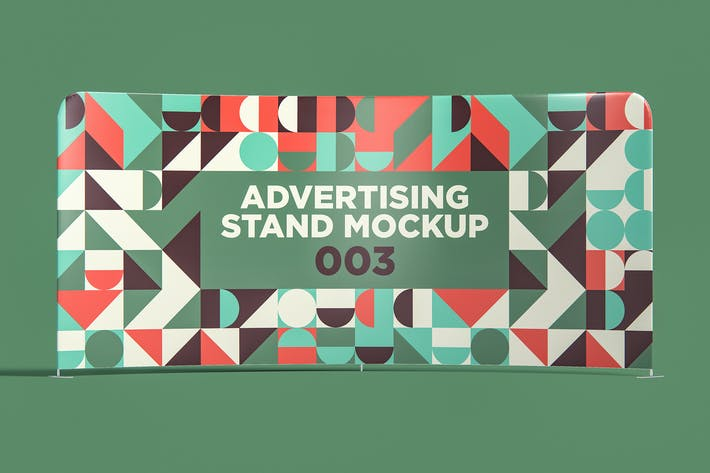 Thumbnail for Advertising Stand Mockup 003