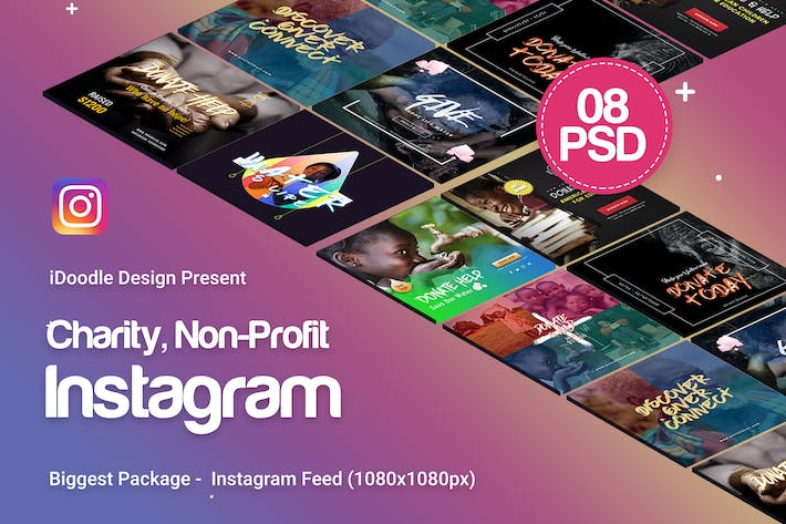 Thumbnail for Charity / Nonprofit  Instagram Ads - 08 PSD