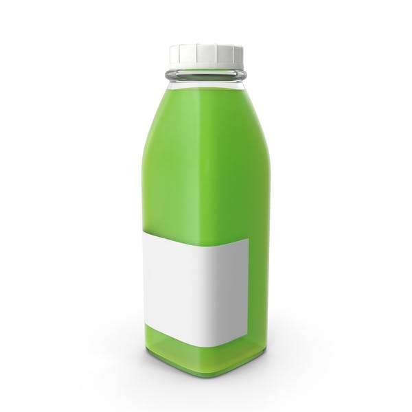 Thumbnail for Juice Bottle Mockup Green