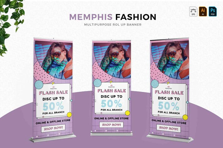 Thumbnail for Memphis Fashion | Roll Up Banner