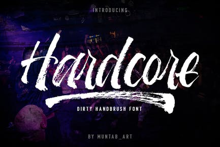 Hardcore   Hand Brush Font