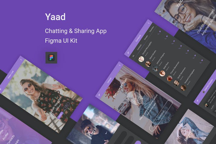 Thumbnail for Yaad - Chatting & Sharing UI Kit for Figma