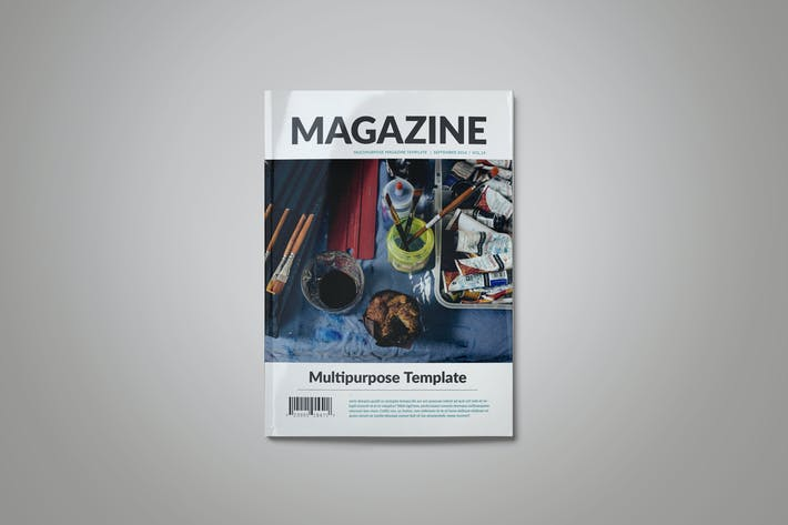 Cover Image For Indesign Magazine Template
