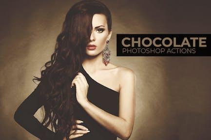 Шоколад Photoshop Действия