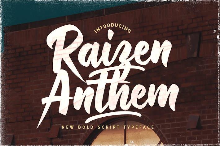 Thumbnail for Raizen Anthem - Fuente Bold Script