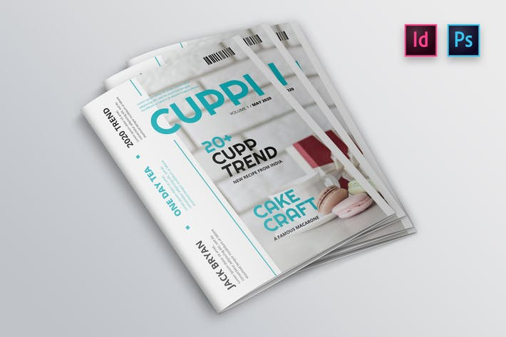 Thumbnail for Cake DIY Magazine Cover Indesign Template