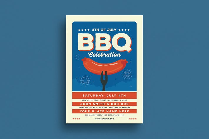 Thumbnail for 4th Of July BBQ Party Flyer