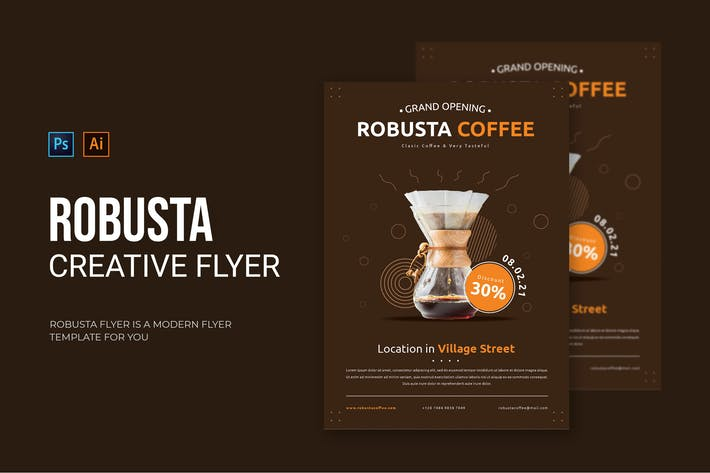 Robusta Coffee - Flyer