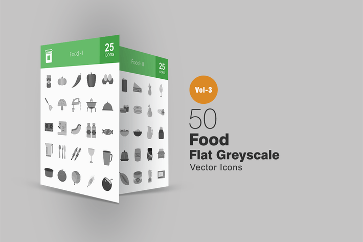 Thumbnail for 50 Food Greyscale Icons