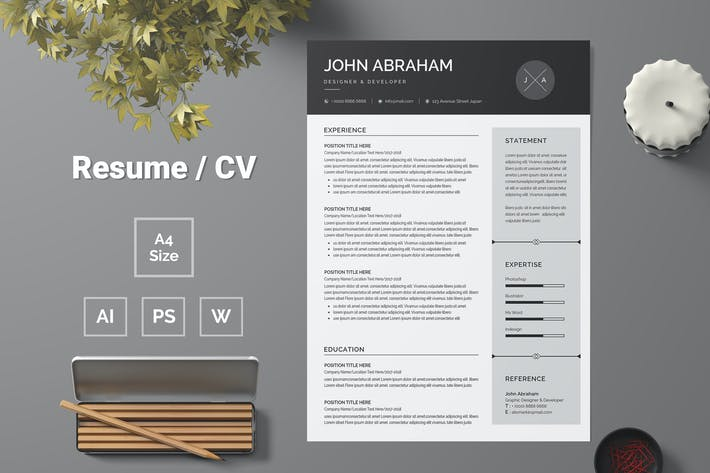 Thumbnail for Resume Template 74