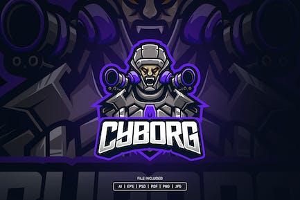 Cyborg esport logo template
