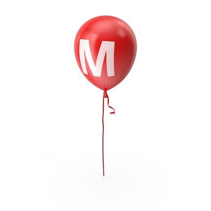 Буква M воздушный шар