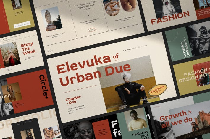 Elevuka - Urban Fashion Google Slides