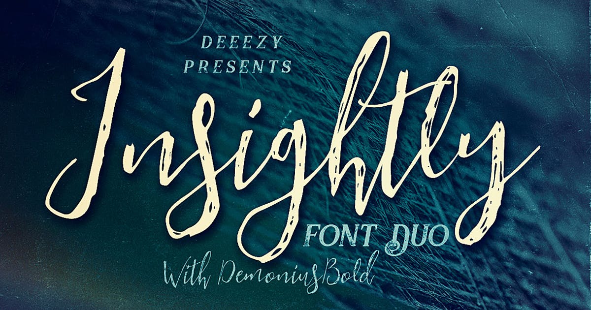 Download Insightly Font Duo by cruzine